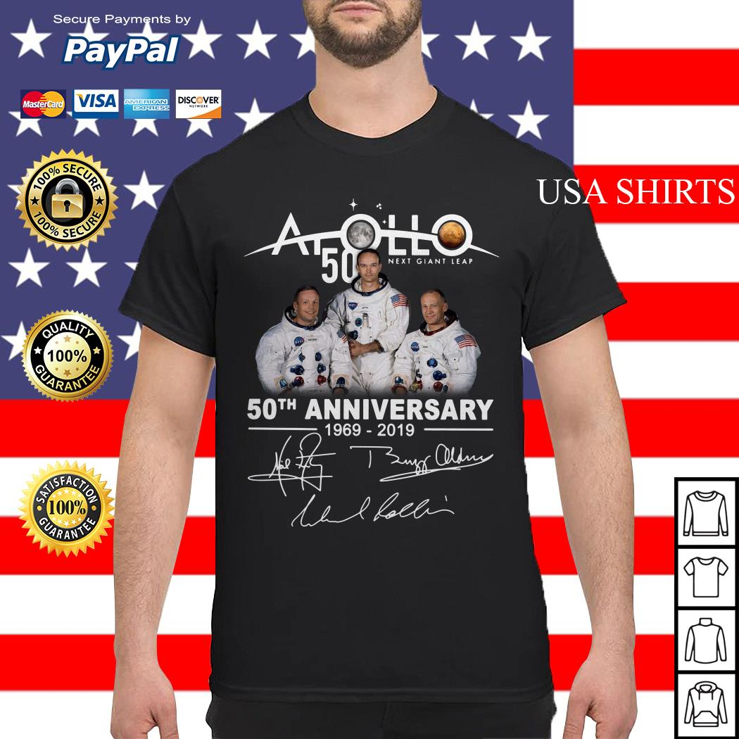 NASA Apollo 50th Anniversary 11 moon landing 1969-2019 signature shirt