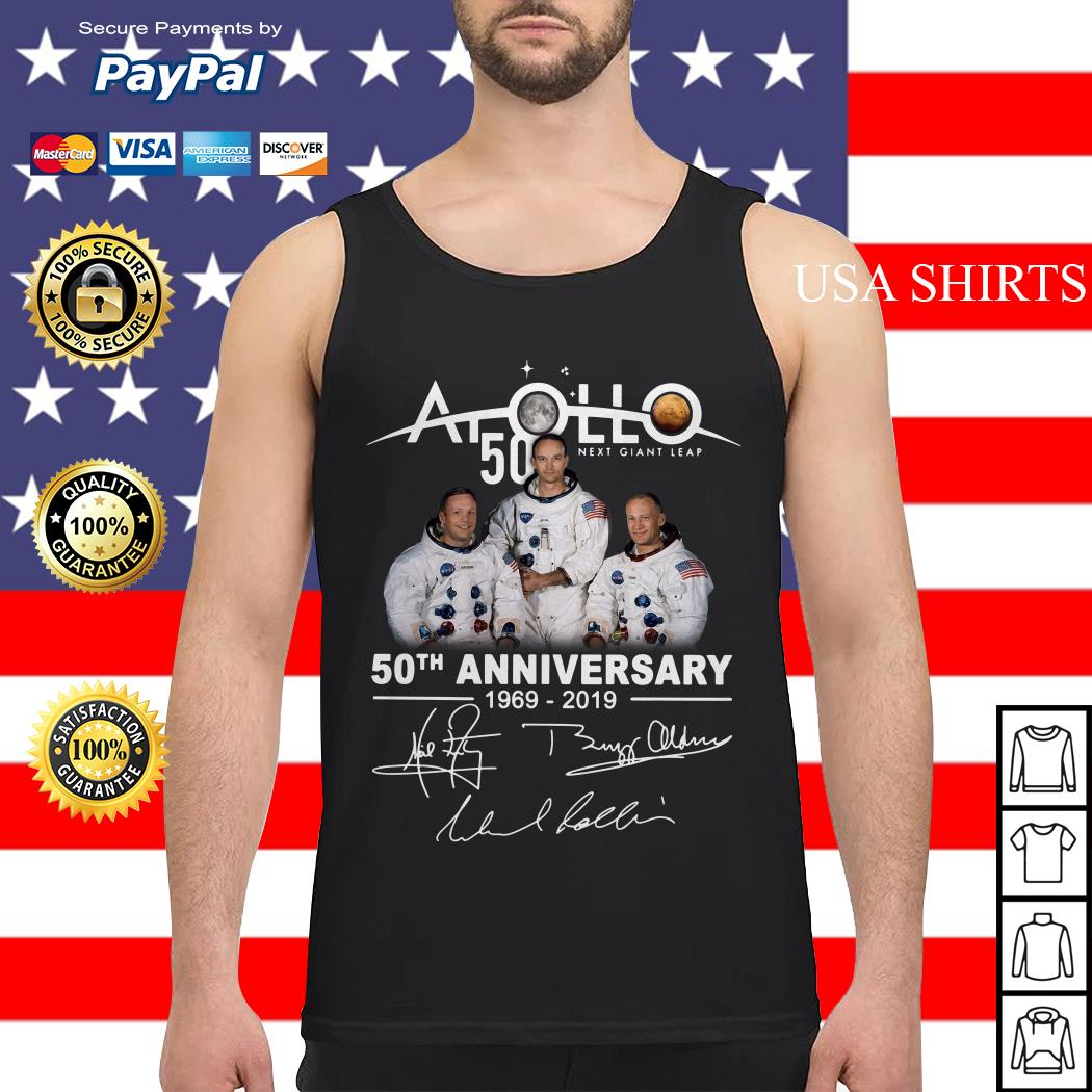 NASA Apollo 50th Anniversary 11 moon landing 1969-2019 signature Tank top