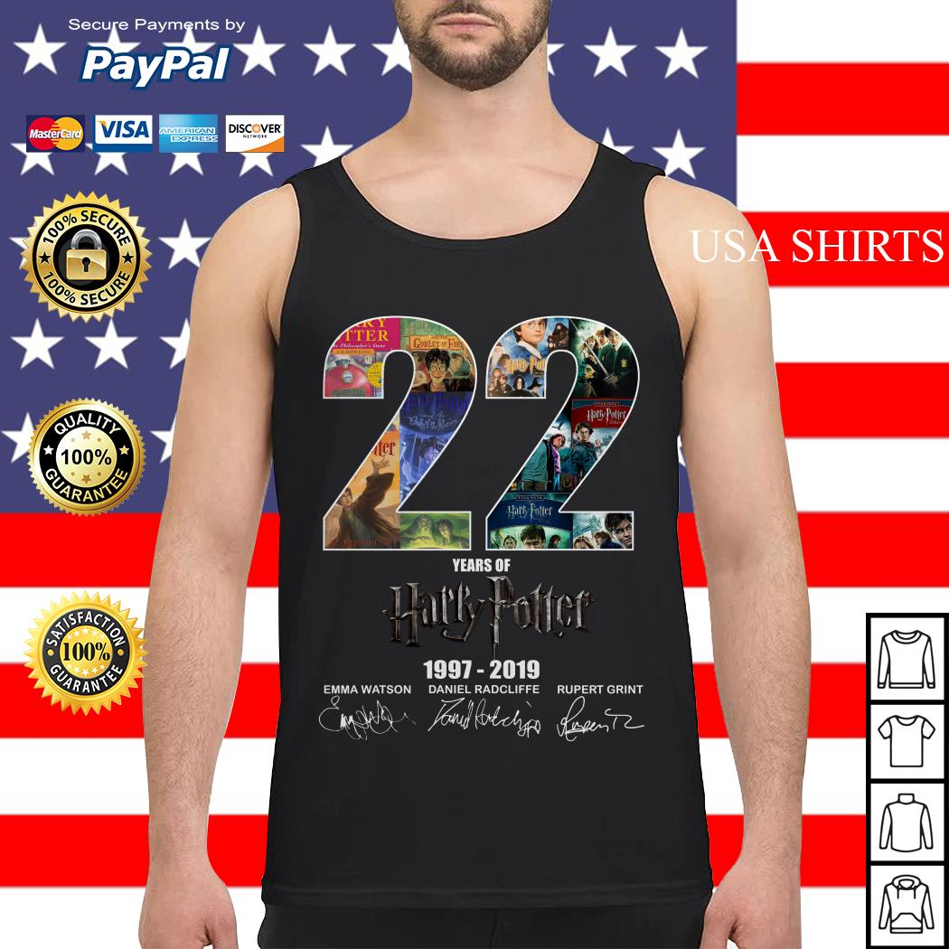 Official 22 Year of Harry Potter 1997-2019 signature Tank top