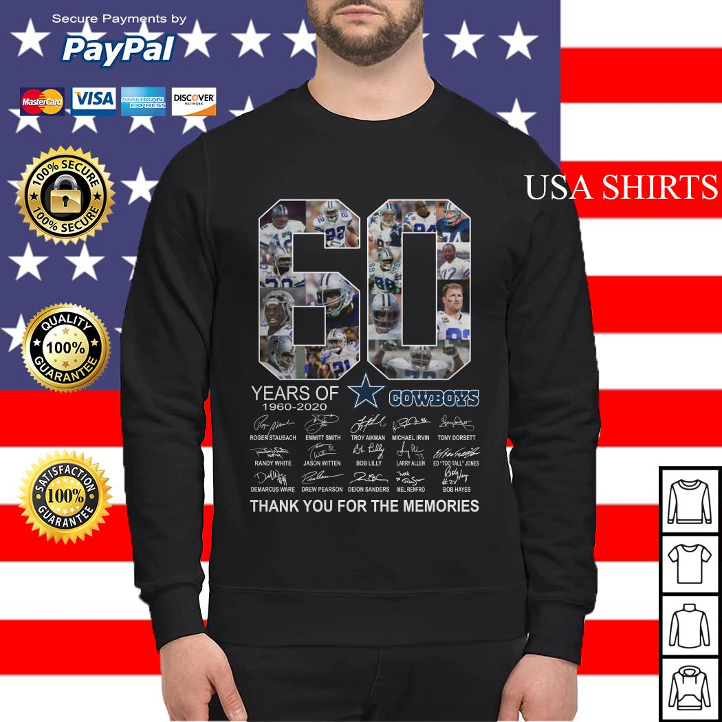 Official 60 years of Dallas Cowboys Thank you for the memories Sweater