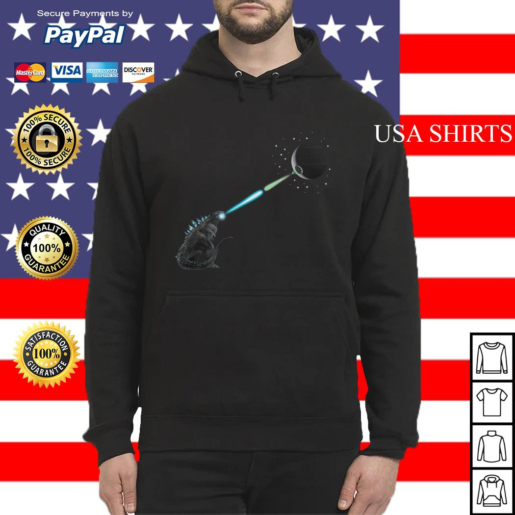 Official Godzilla and Death Star Fight Hoodie
