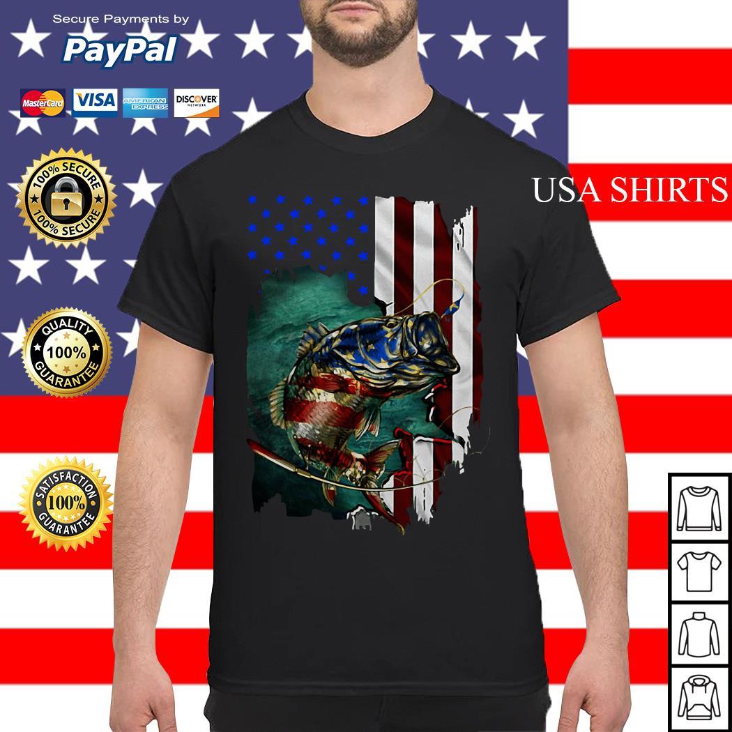 Original Bass Fishing 4th Of July American flag Shirt