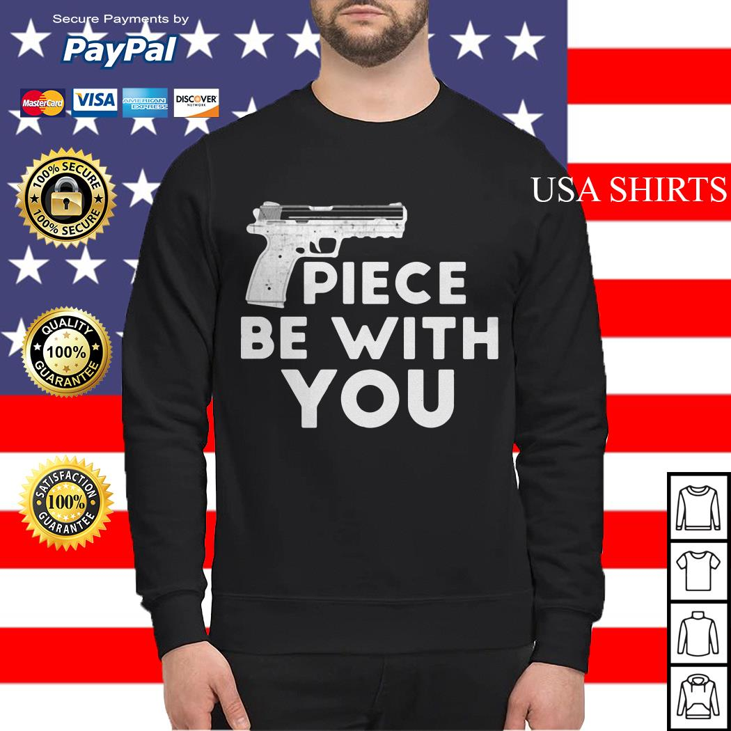 Piece be with you gun distressed Sweater