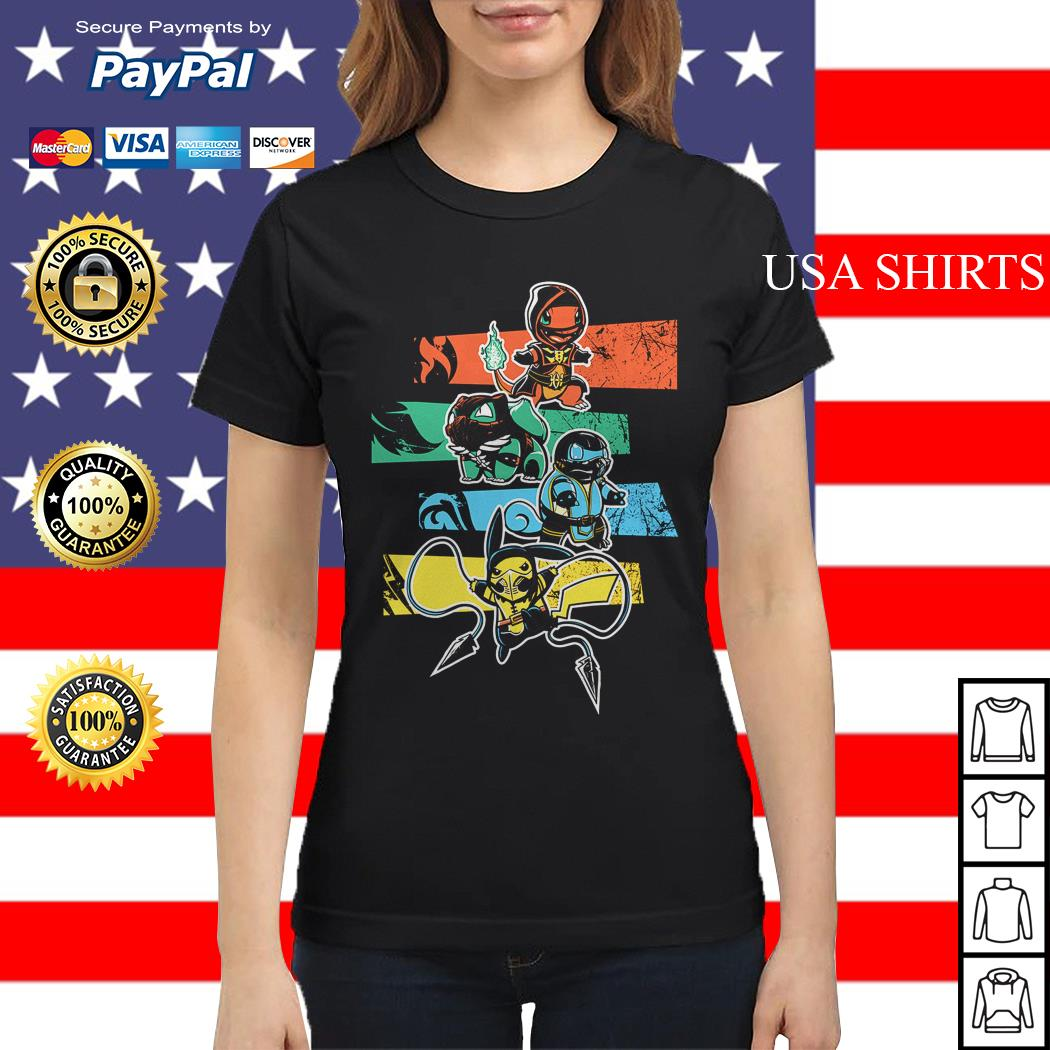 Pokemon style Mortal Kombat Ladies tee