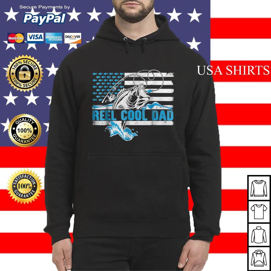 Reel Cool Dad Father day America Flag Hoodie