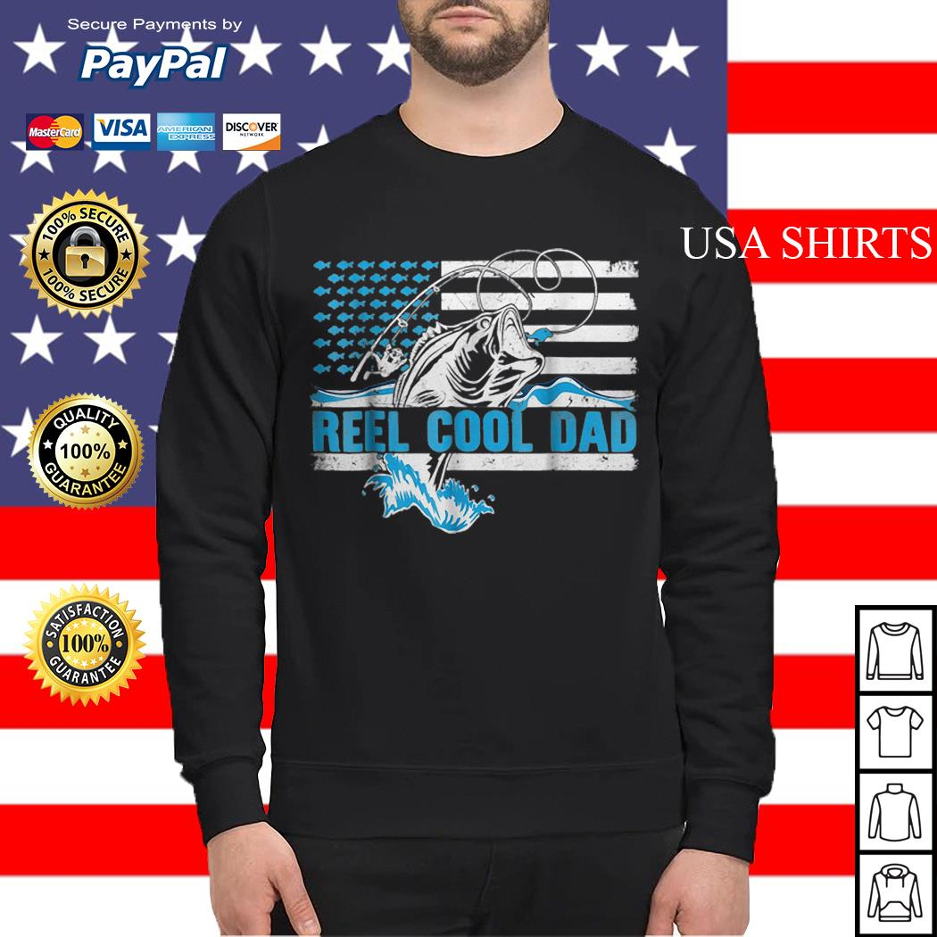 Reel Cool Dad Father day America Flag Sweater