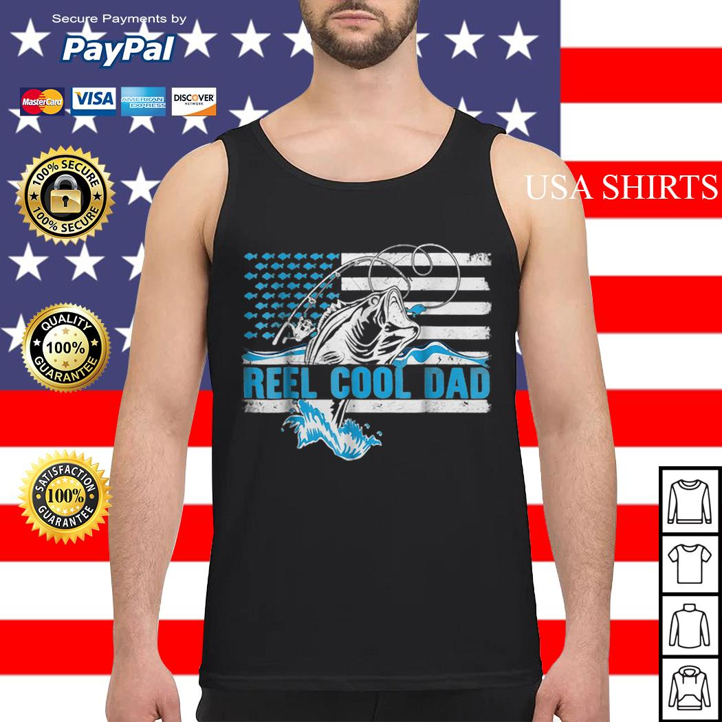 Reel Cool Dad Father day America Flag Tank top