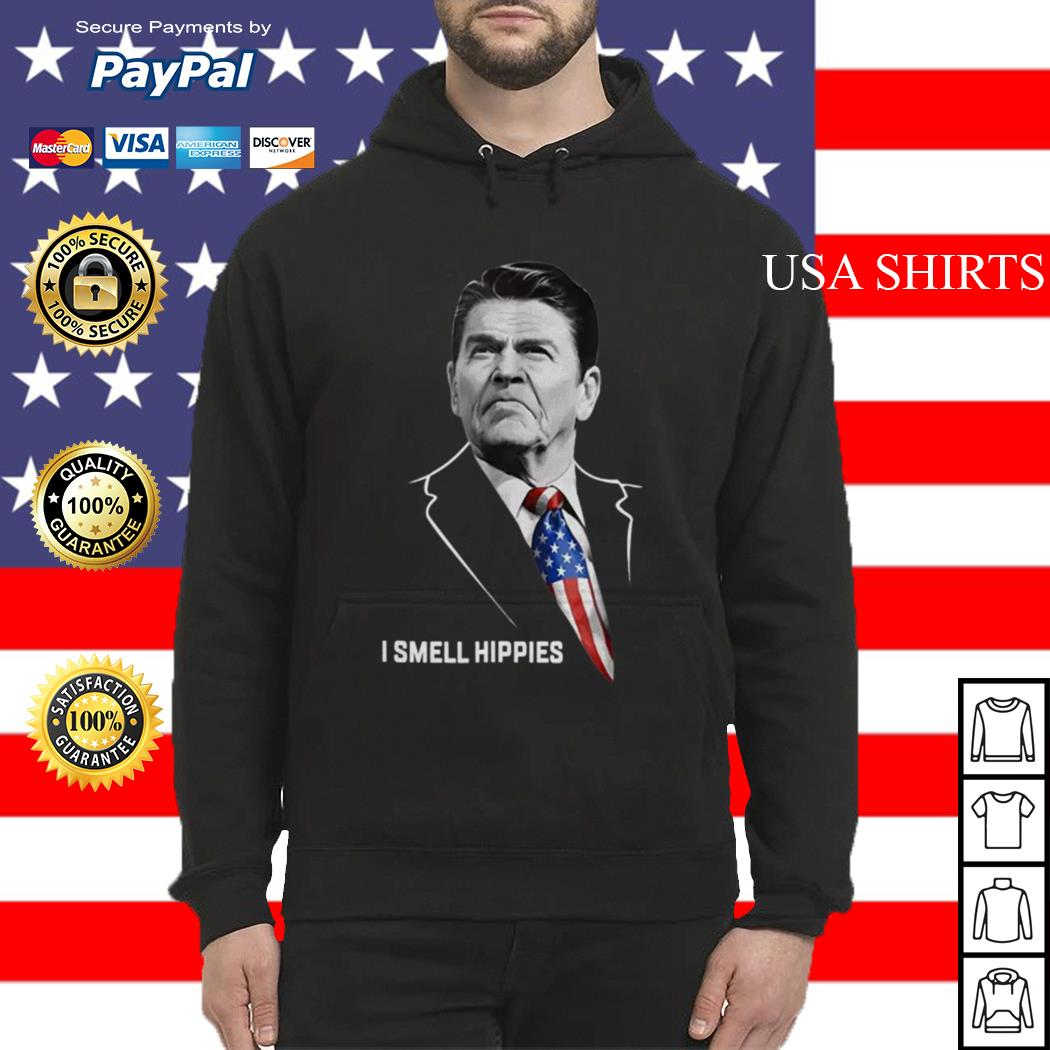 Ronald Reagan I smell Hippies Hoodie