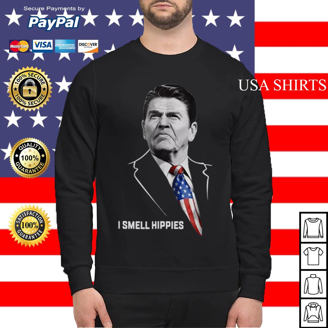 Ronald Reagan I smell Hippies Sweater