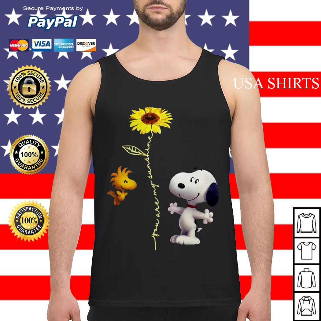 Snoopy and Woodstock You are my sunshine sunflower Tank top