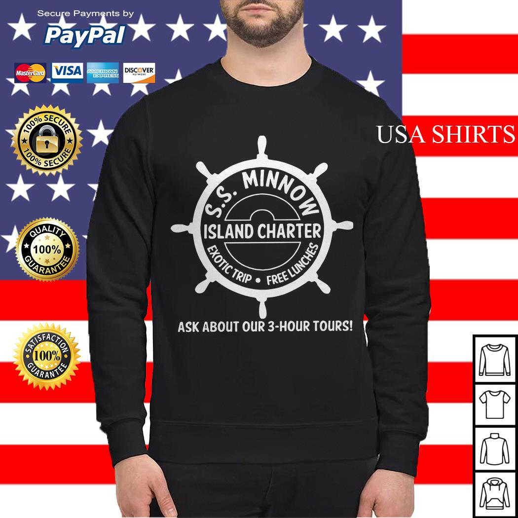 SS minnow island charter exotic trip free lunches ask about our 3 hour tours Sweater