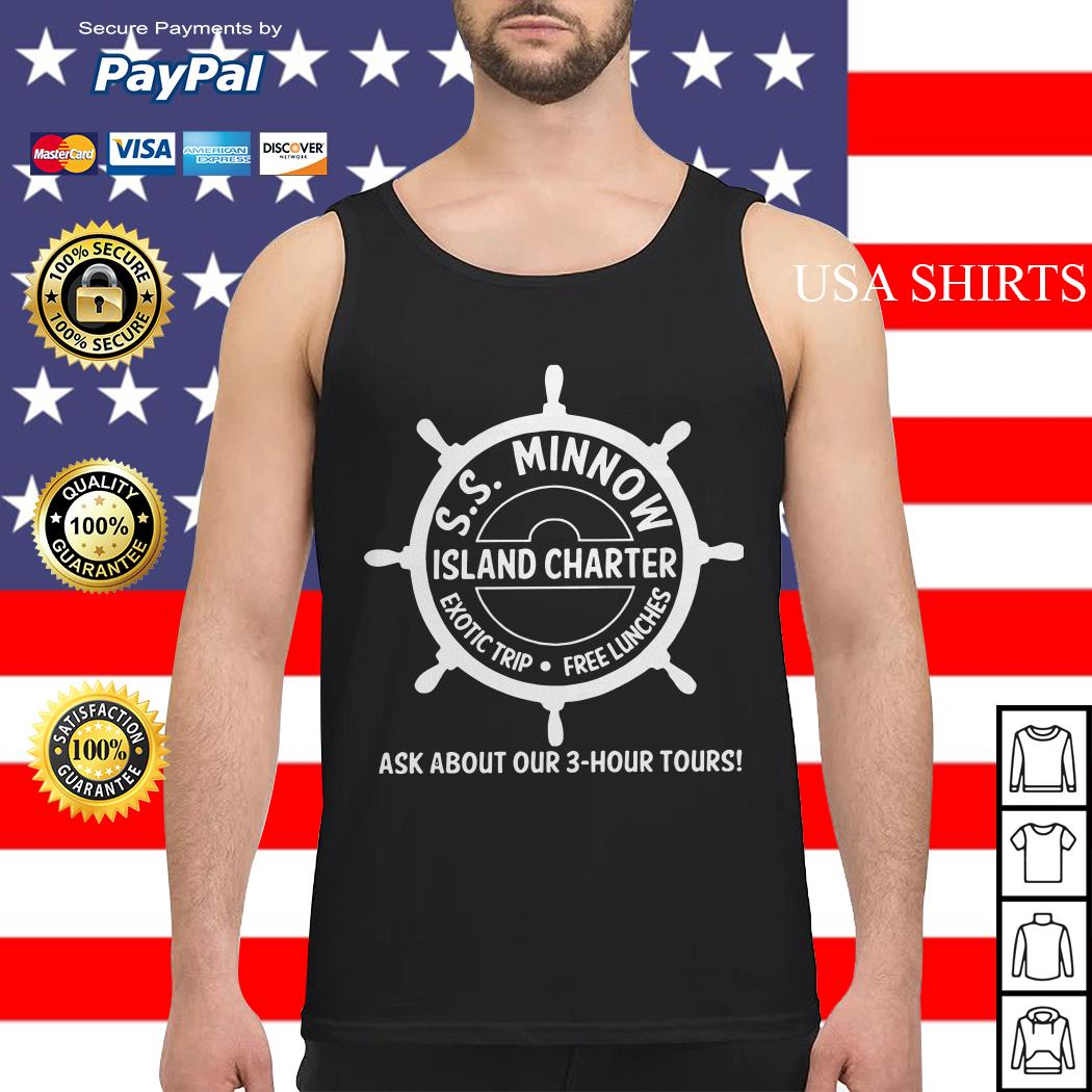 SS minnow island charter exotic trip free lunches ask about our 3 hour tours Tank top