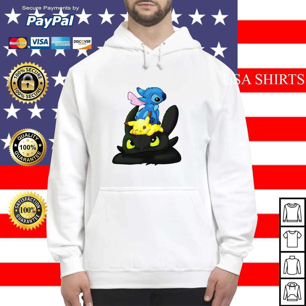Stitch Pikachu Toothless kid Hoodie