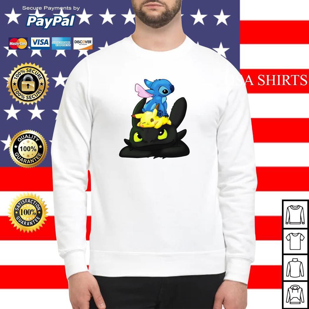 Stitch Pikachu Toothless kid Sweater