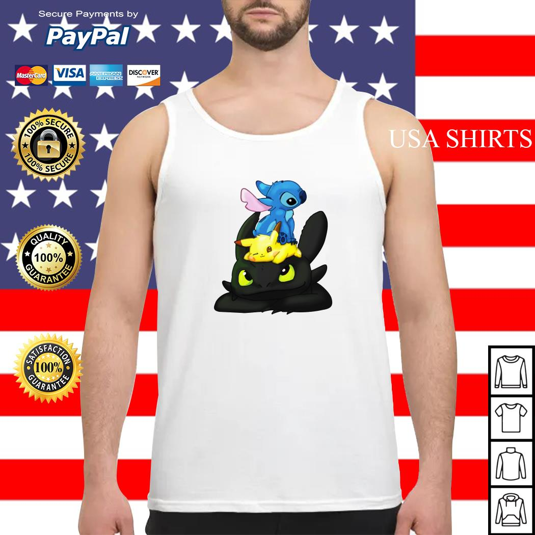 Stitch Pikachu Toothless kid Tank top