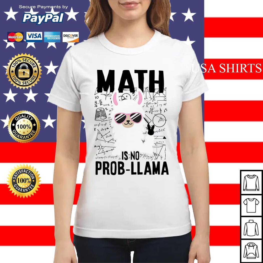Teachers day Math is no prob Llama Ladies tee