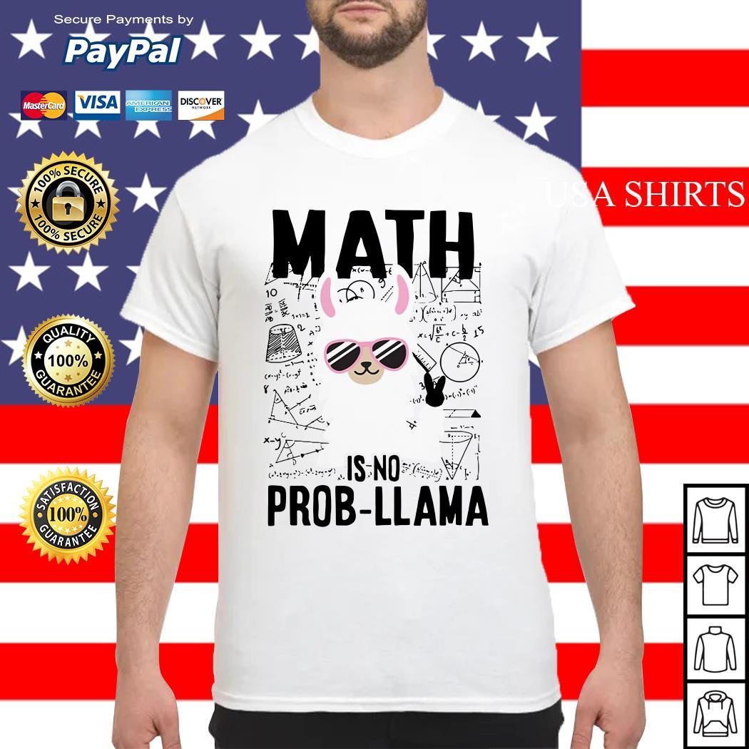 Teachers day Math is no prob Llama shirt