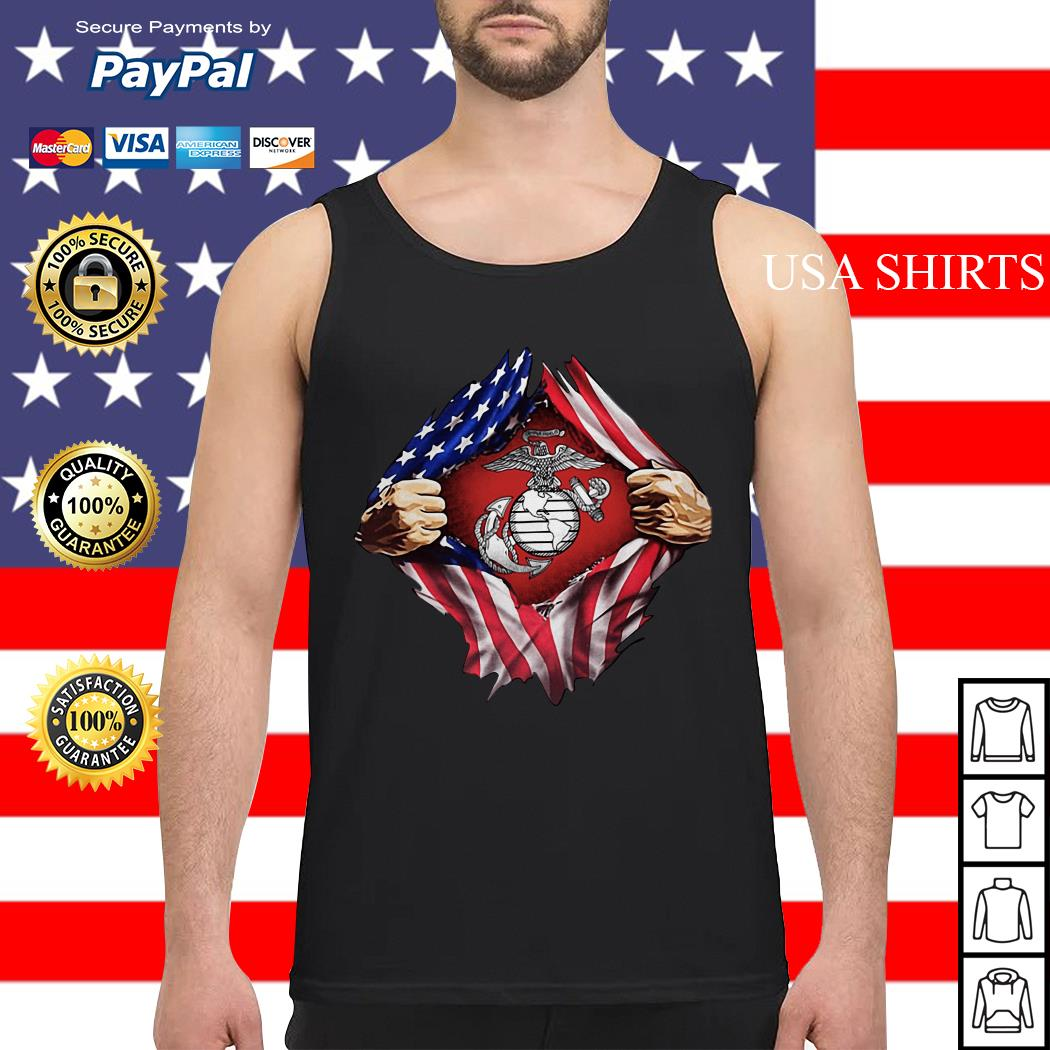 United States marine corps inside American flag Tank top