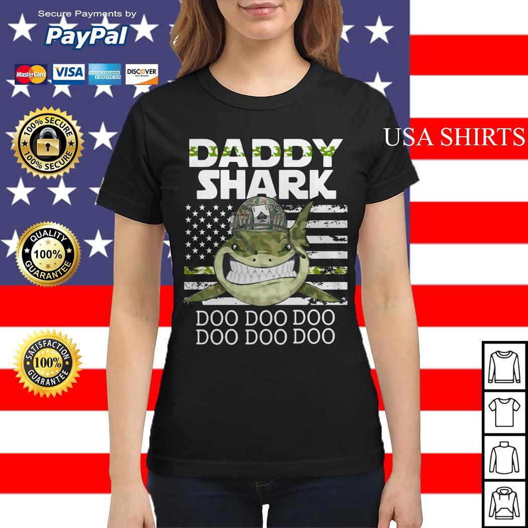 Veteran Daddy Shark Doo Doo Doo Ladies tee