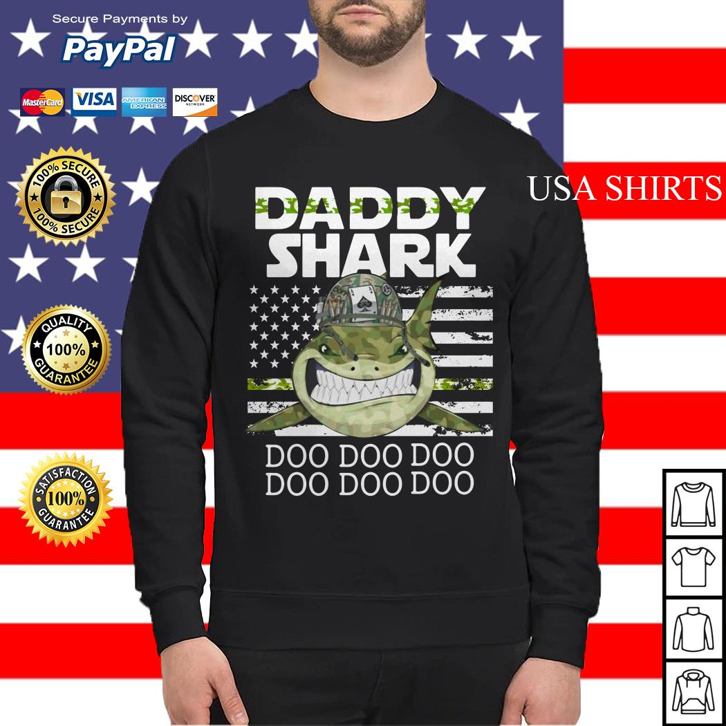Veteran Daddy Shark Doo Doo Doo Sweater