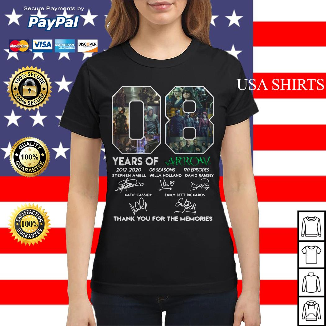 08 years of Arrow thank you for the memories signature Ladies tee