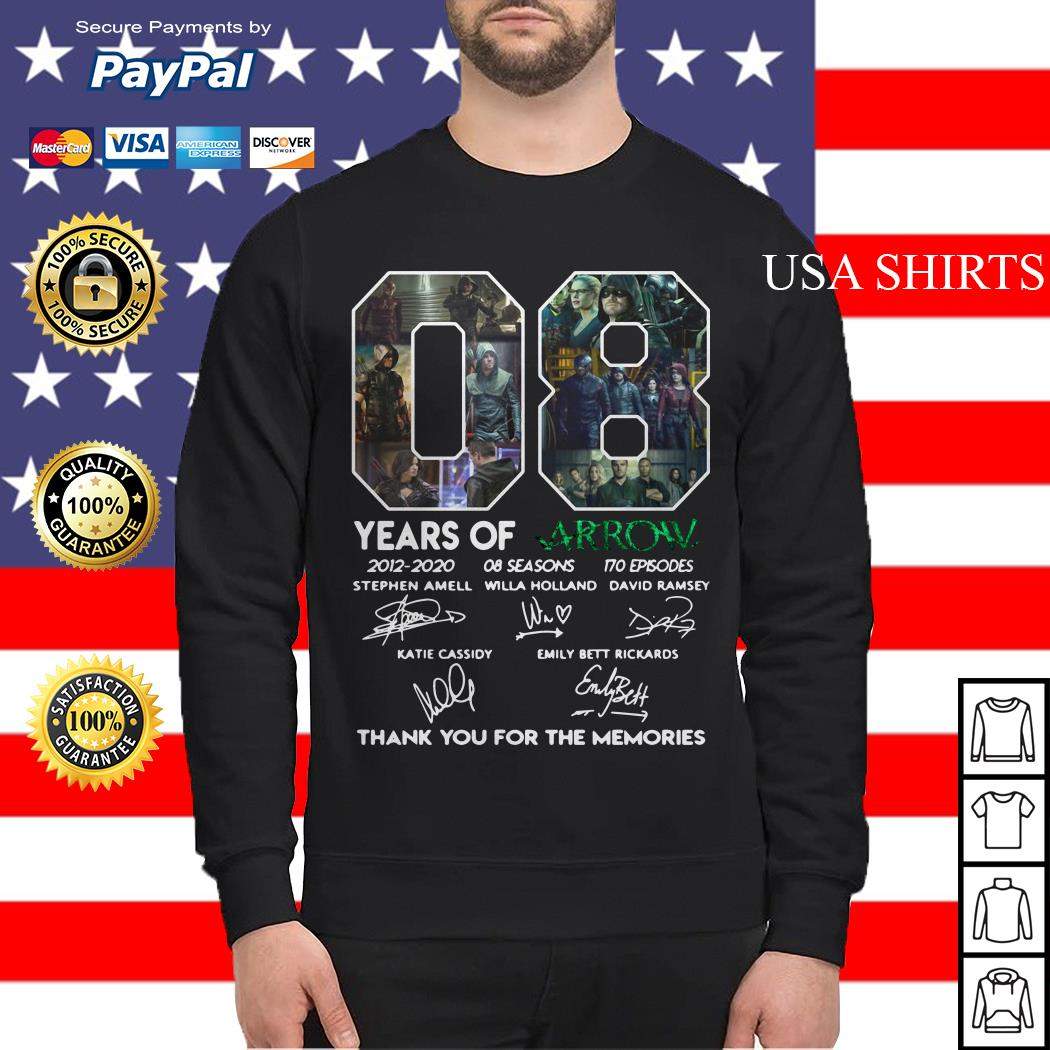 08 years of Arrow thank you for the memories signature Sweater