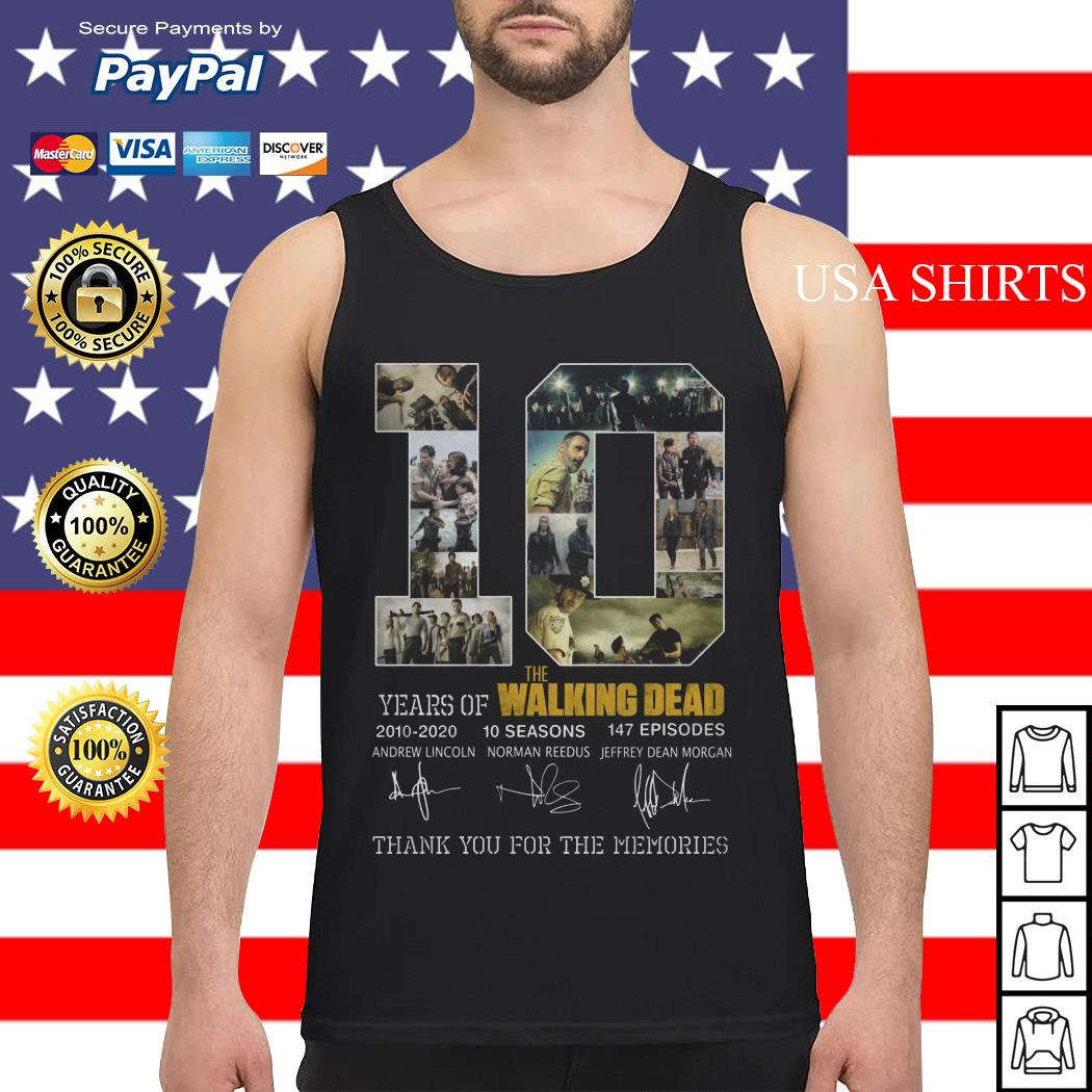 10 years of The Walking Dead thank you for the memories Tank top