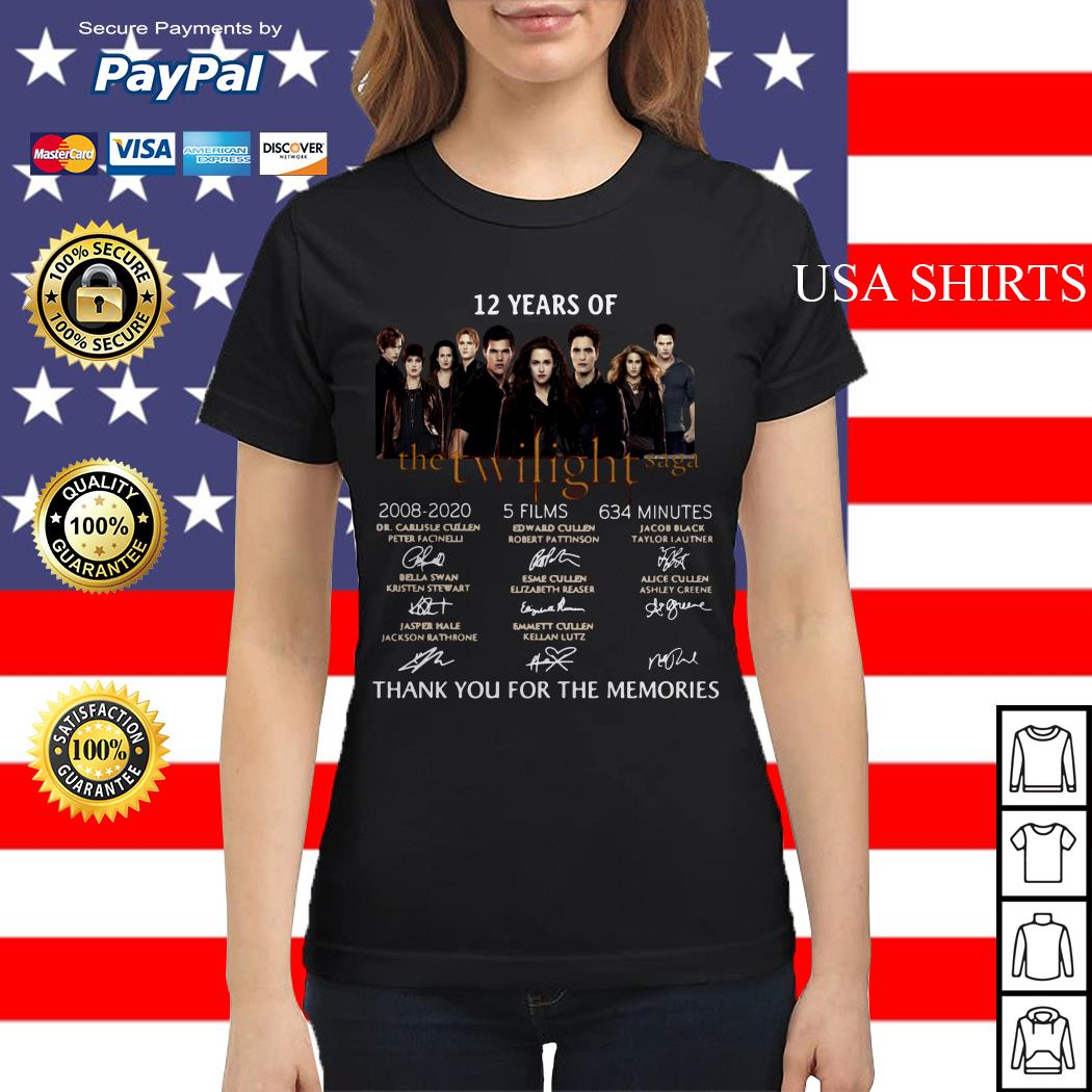 12 years of The Twilight Saga thank you for the memories signature Ladies tee