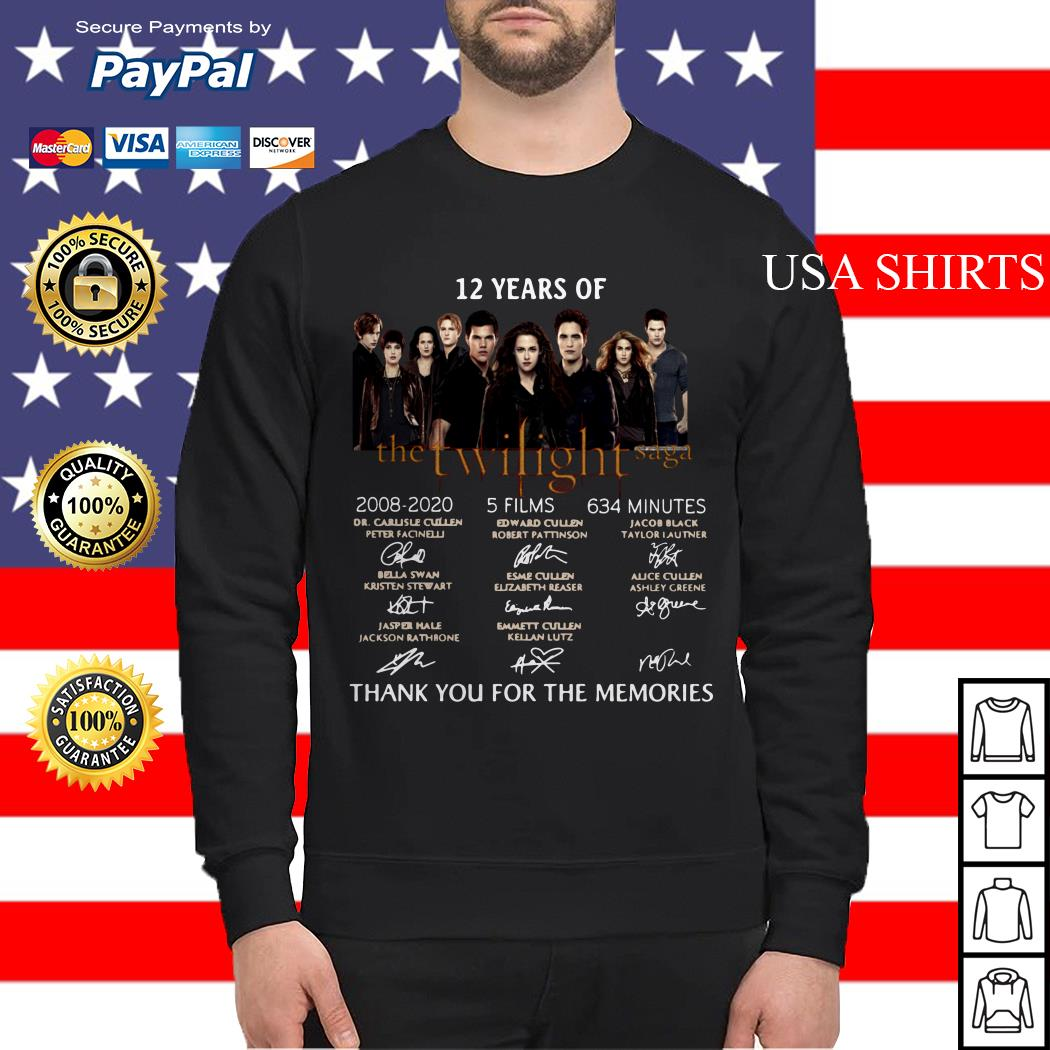 12 years of The Twilight Saga thank you for the memories signature Sweater