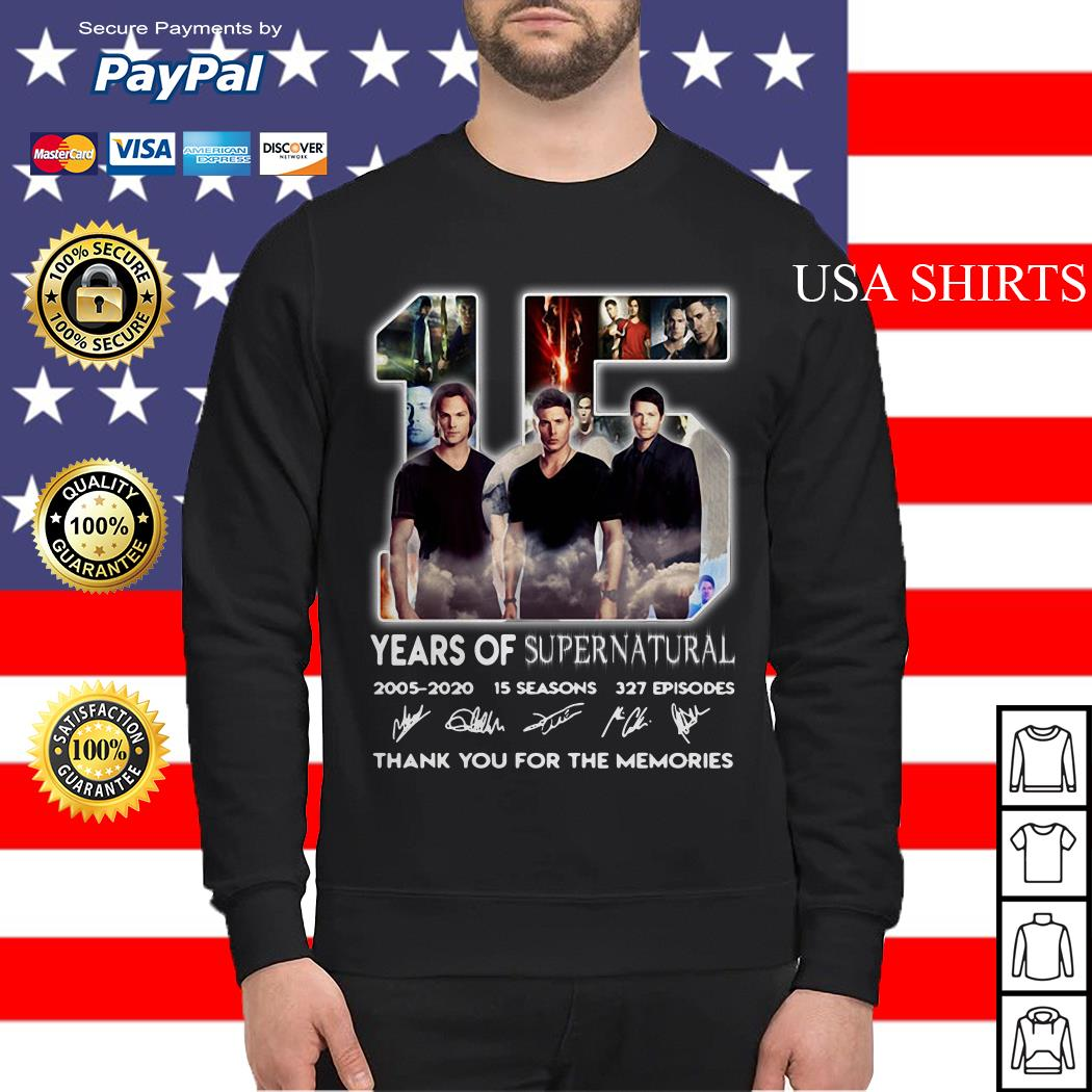 15 years of Supernatural 2005 2020 15 seasons 327 episodes signature Sweater