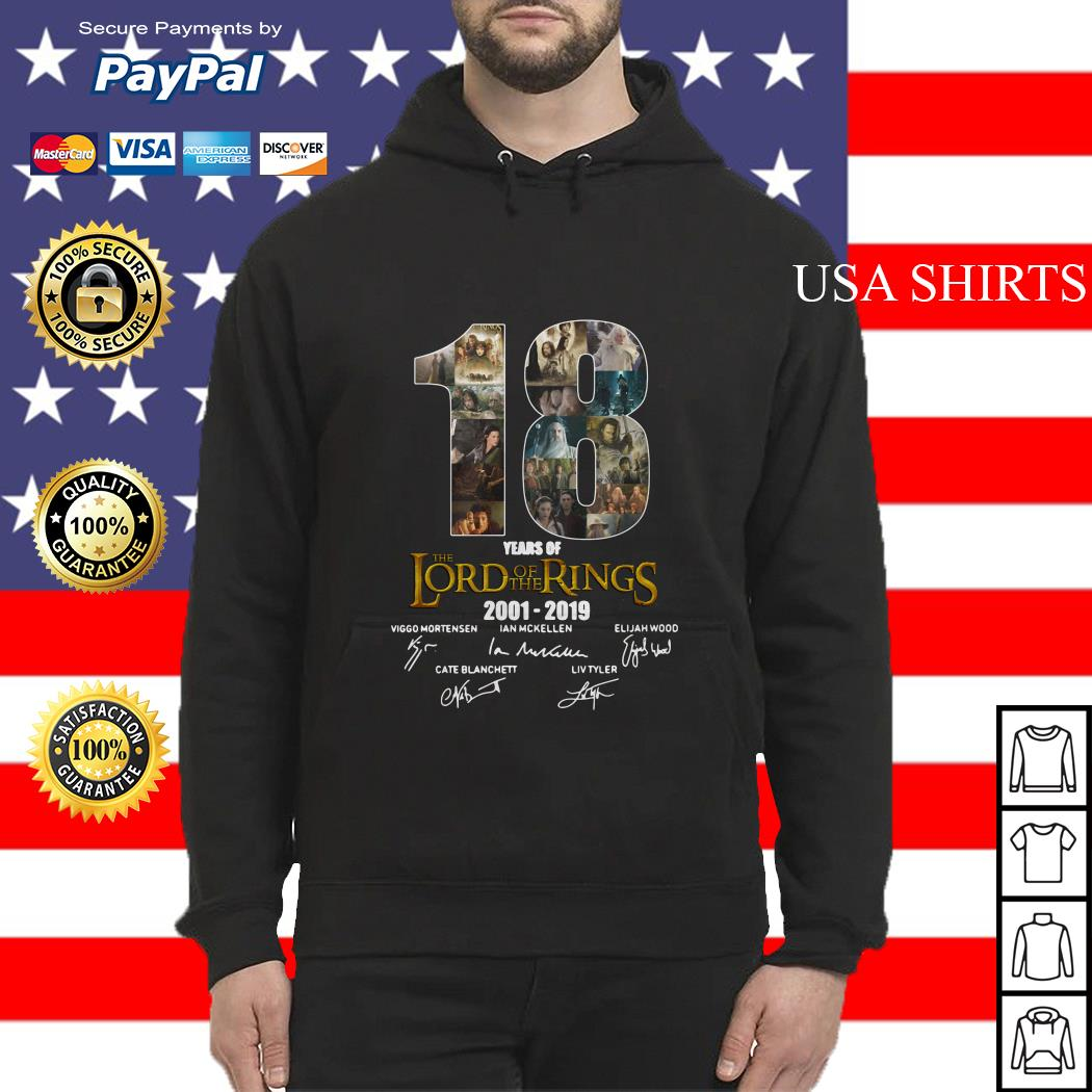 18 Year of The Lord of The Rings 2001 2019 Signature Hoodie