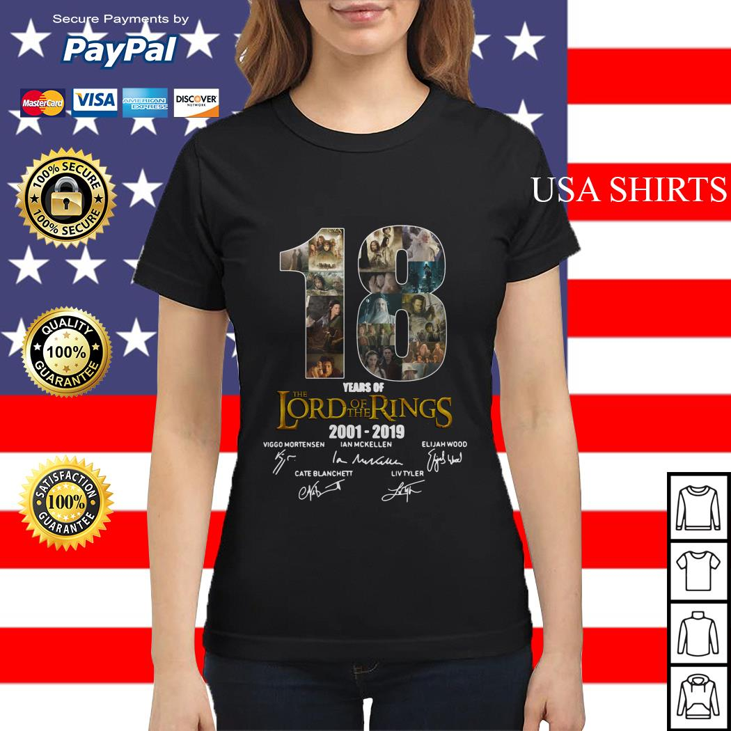 18 Year of The Lord of The Rings 2001 2019 Signature Ladies tee