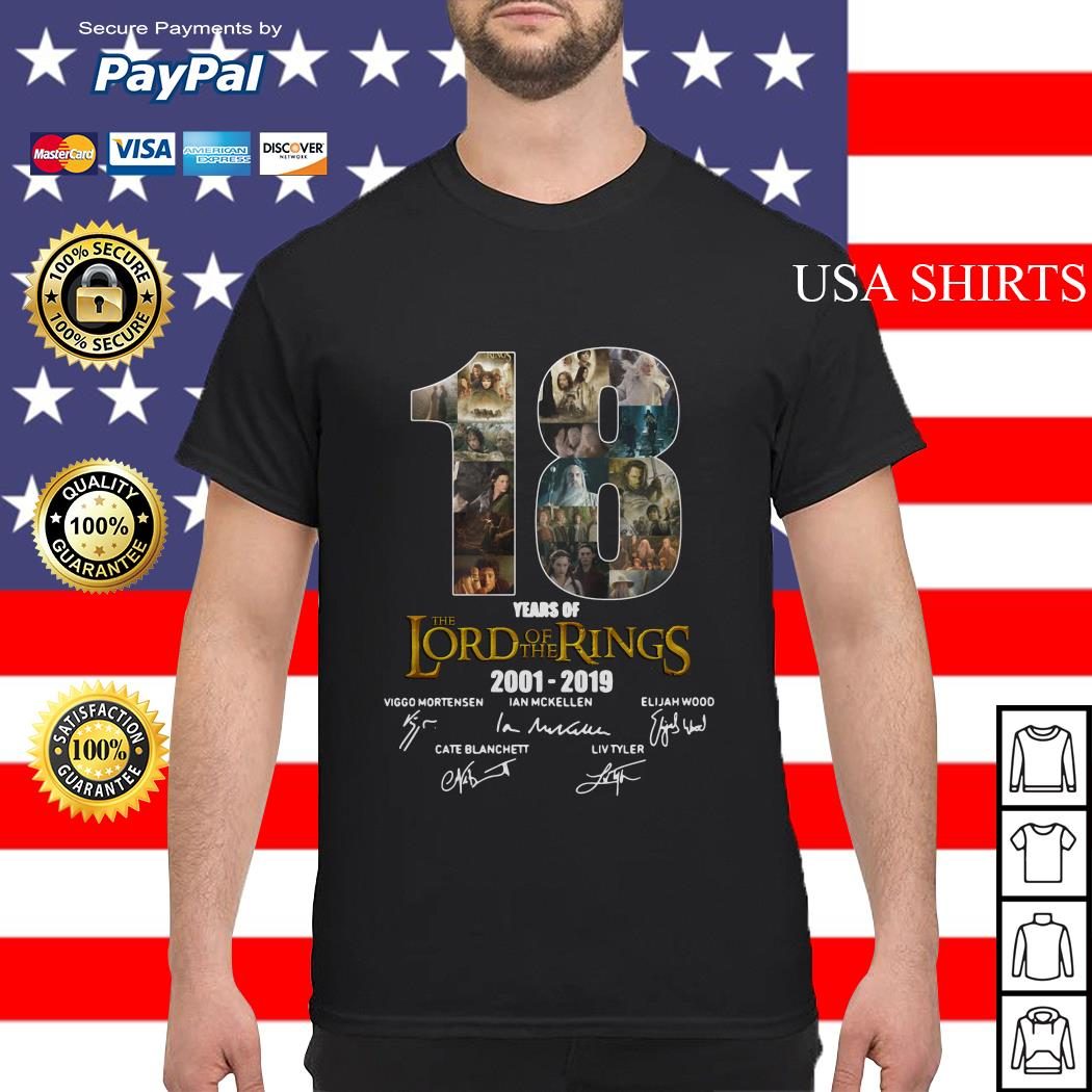 18 Year of The Lord of The Rings 2001 2019 Signature shirt
