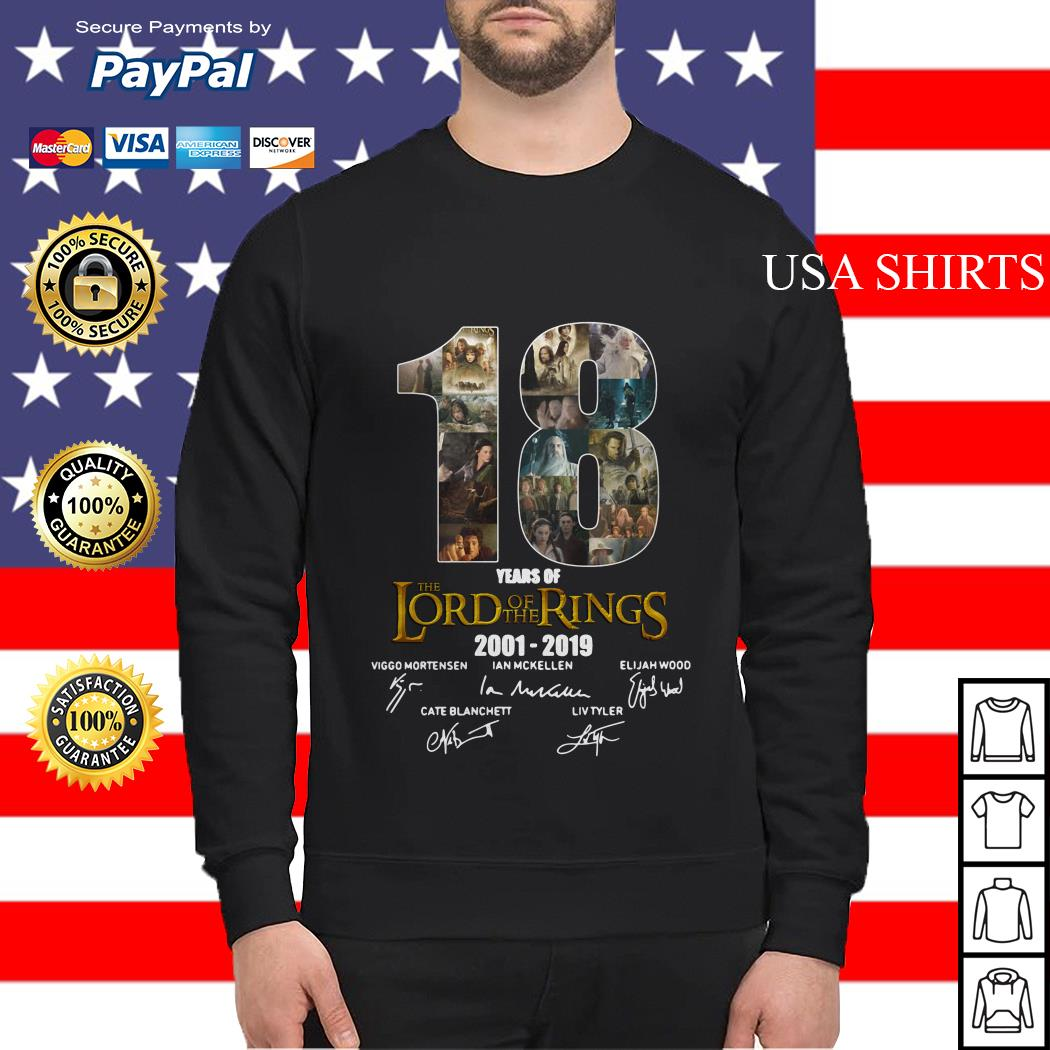 18 Year of The Lord of The Rings 2001 2019 Signature Sweater