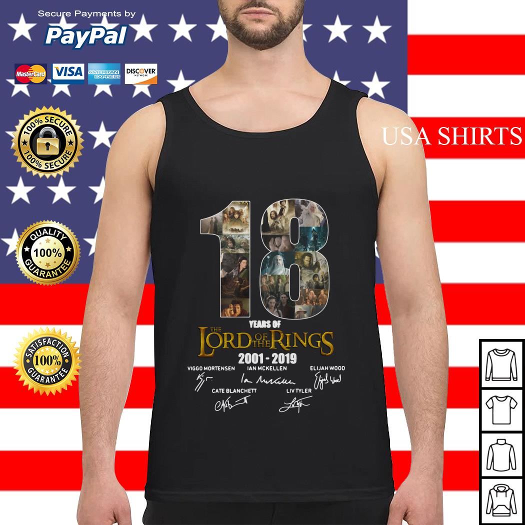 18 Year of The Lord of The Rings 2001 2019 Signature Tank top