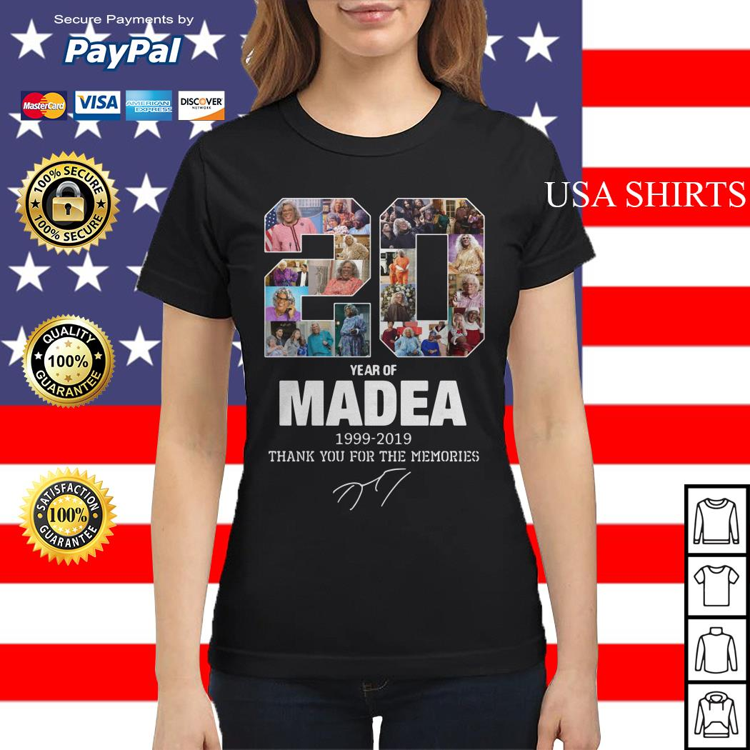 20 years of Madea Thank you for memories Ladies tee