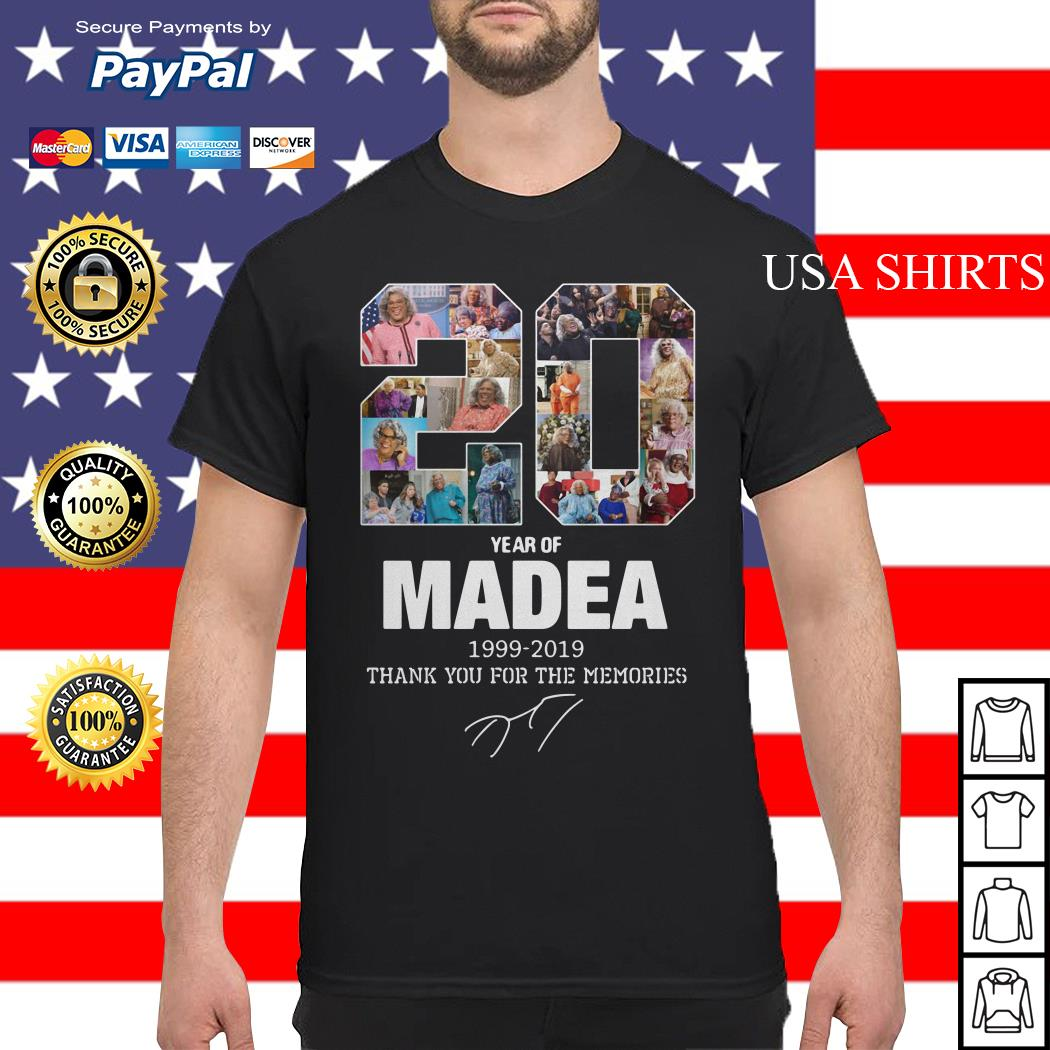 20 years of Madea Thank you for memories shirt