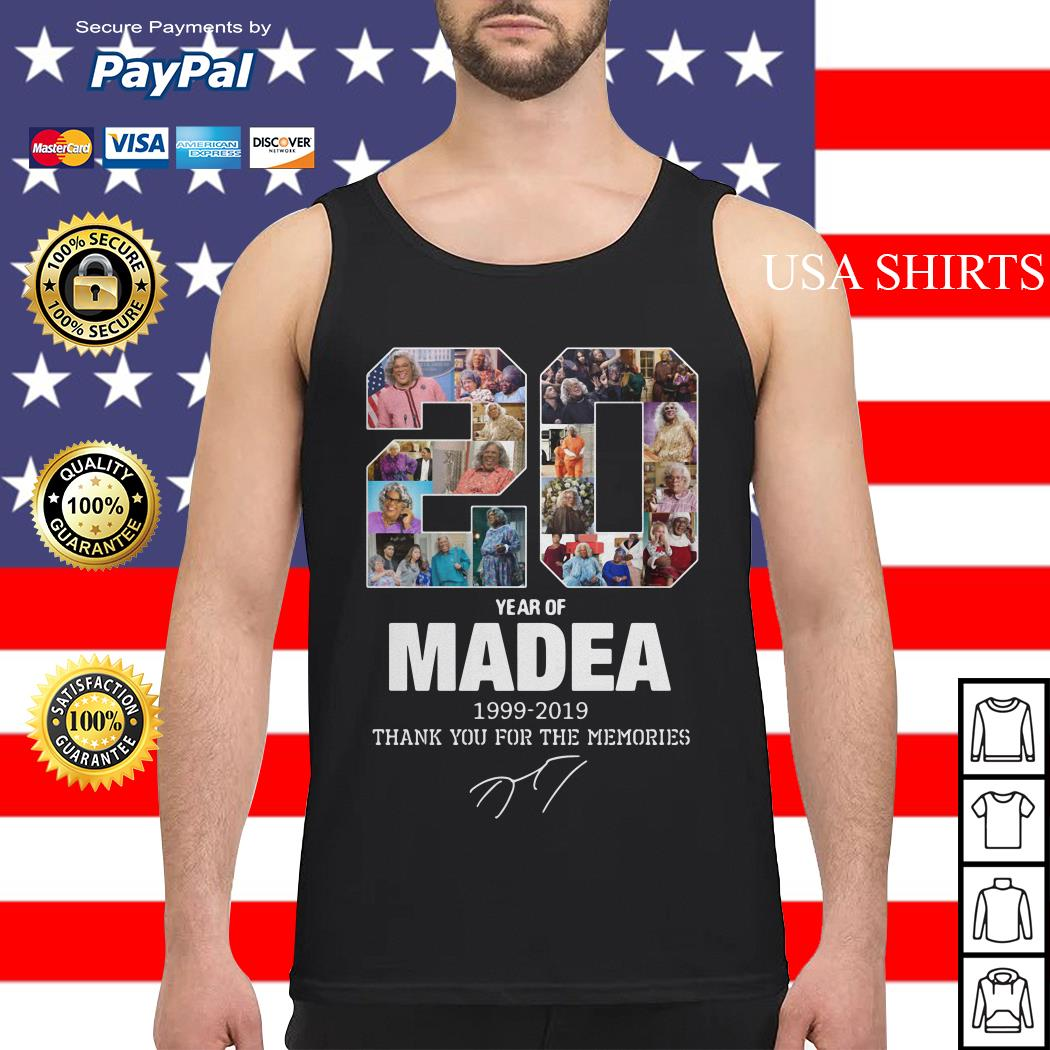 20 years of Madea Thank you for memories Tank top