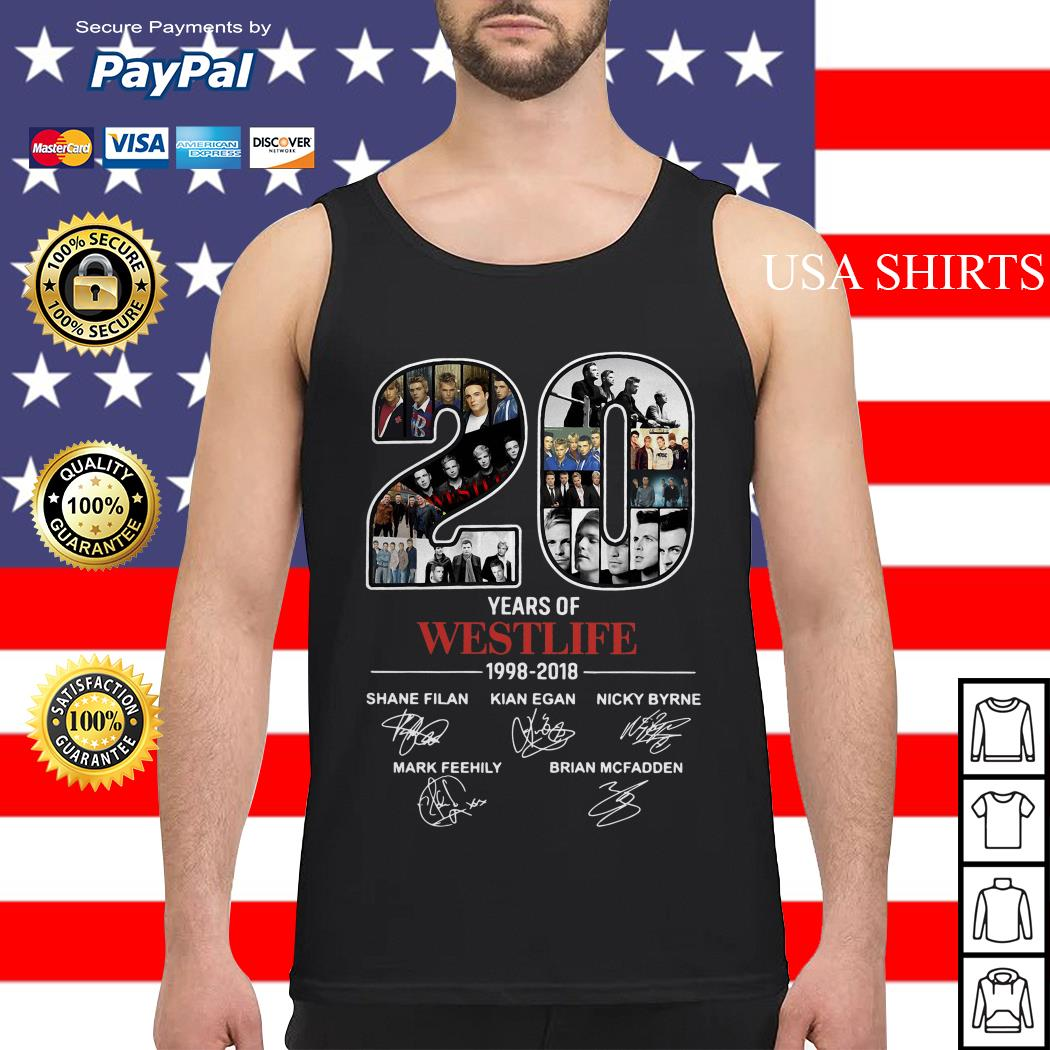 20 Years of Westlife 1998-2018 signatures Tank top