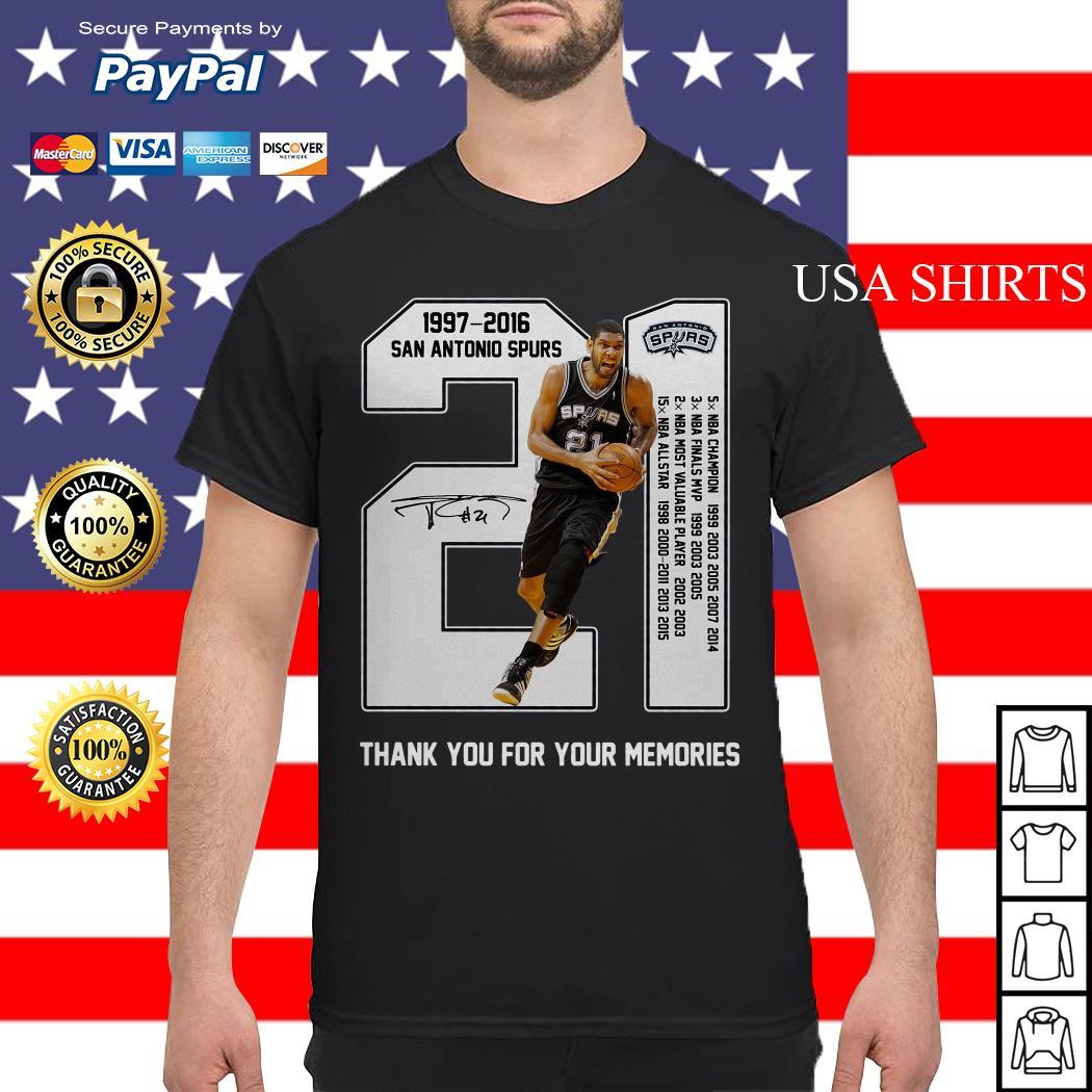 21th Years Of San Antonio Spurs 1997-2016 shirt