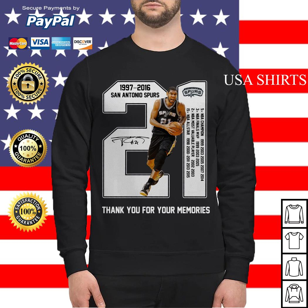 21th Years Of San Antonio Spurs 1997-2016 Sweater