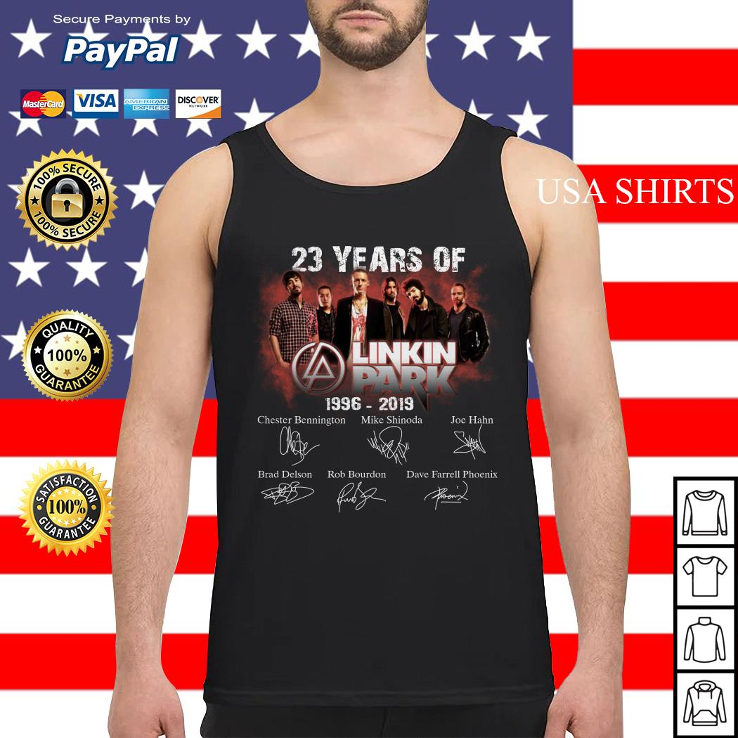 23 years of Linkin Park 1996 2019 signature Tank top