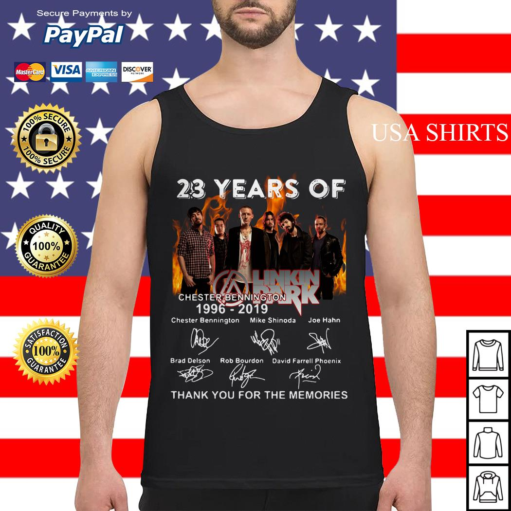 23 years of Linkin Park Chester bennington 1996 2019 thank for the memories signature Tank top