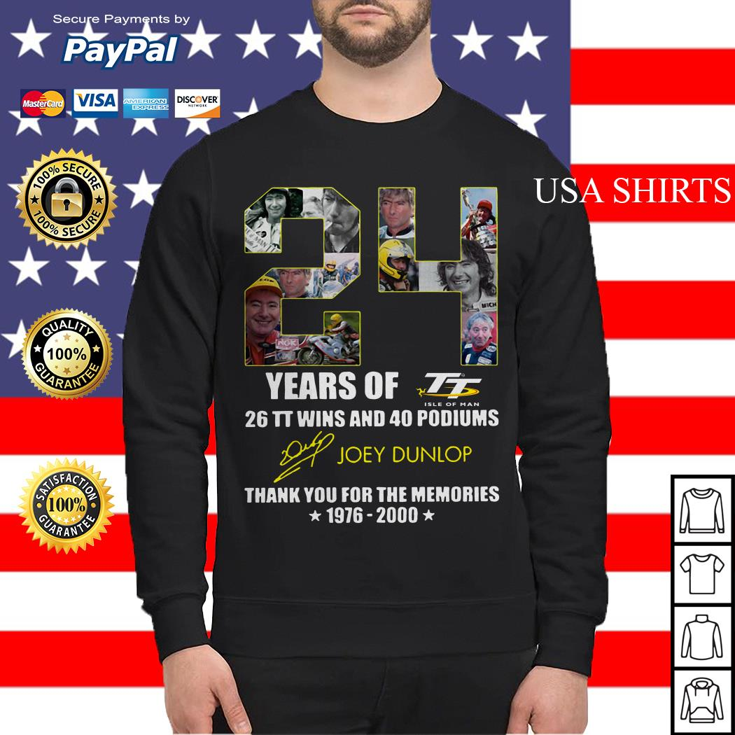 24 years of 26 TT wins and 40 podiums thank you for the memories 1976 2000 Sweater