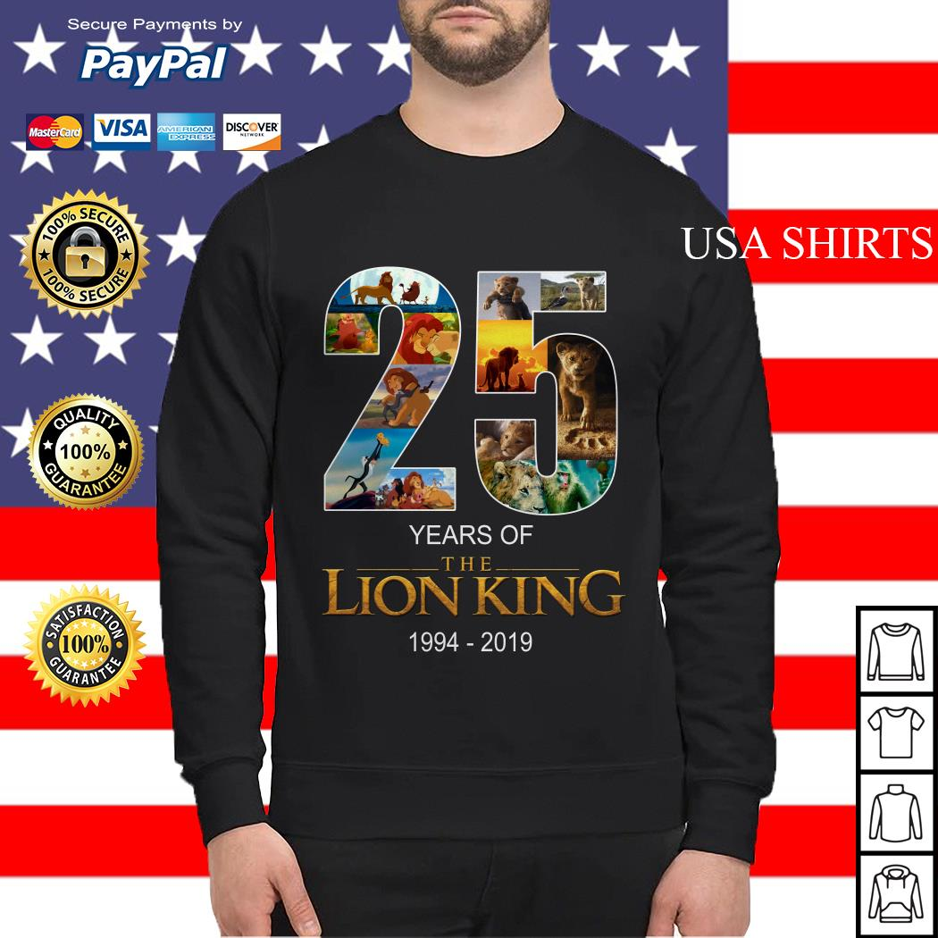 25 years of Lion King 1994 2019 Sweater