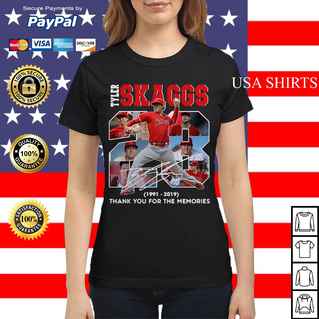 28 Years Tyler Skaggs 1991 2019 thank you for the memories Ladies tee
