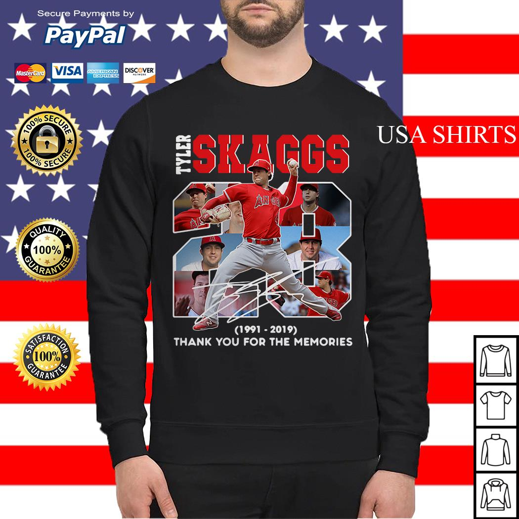 28 Years Tyler Skaggs 1991 2019 thank you for the memories Sweater