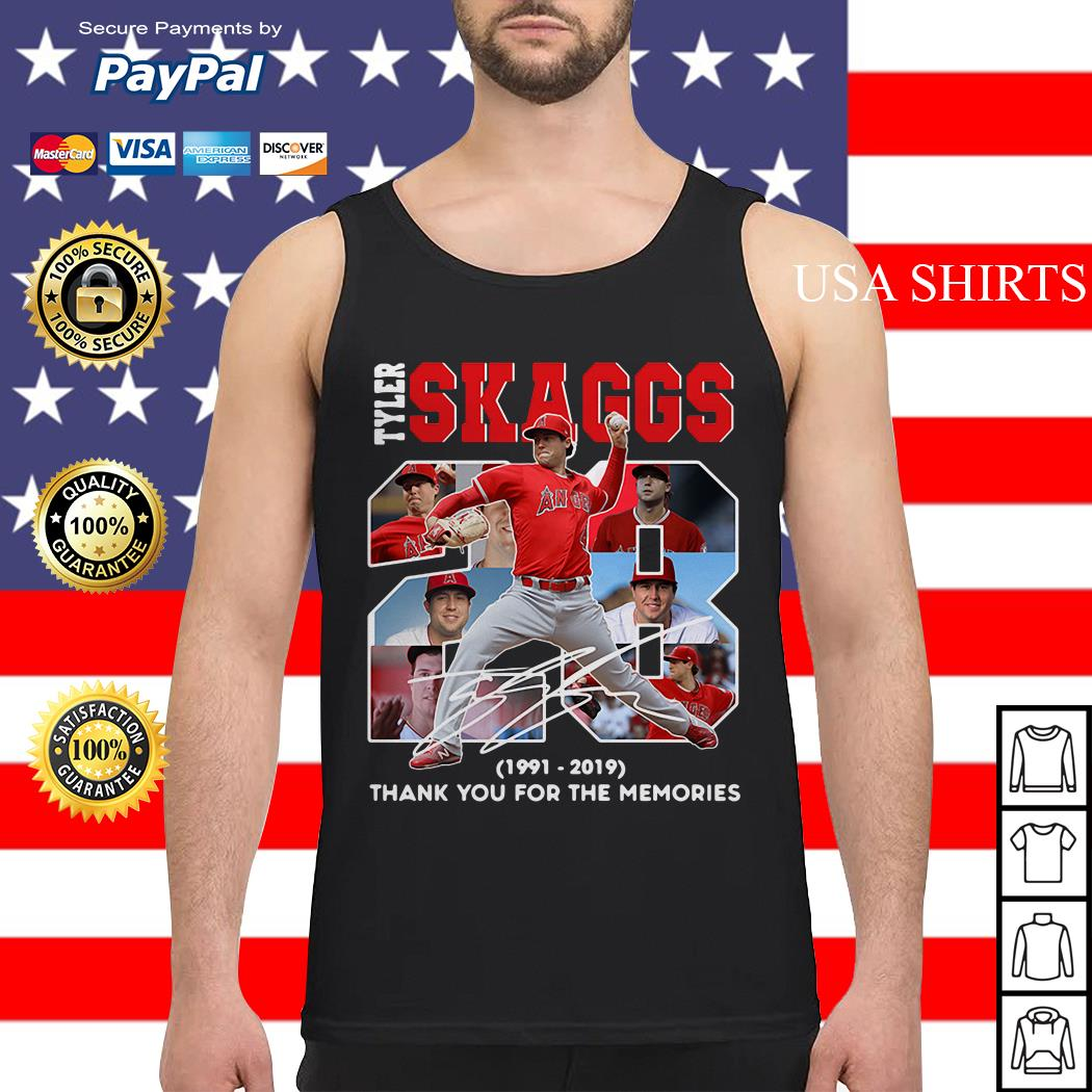 28 Years Tyler Skaggs 1991 2019 thank you for the memories Tank top