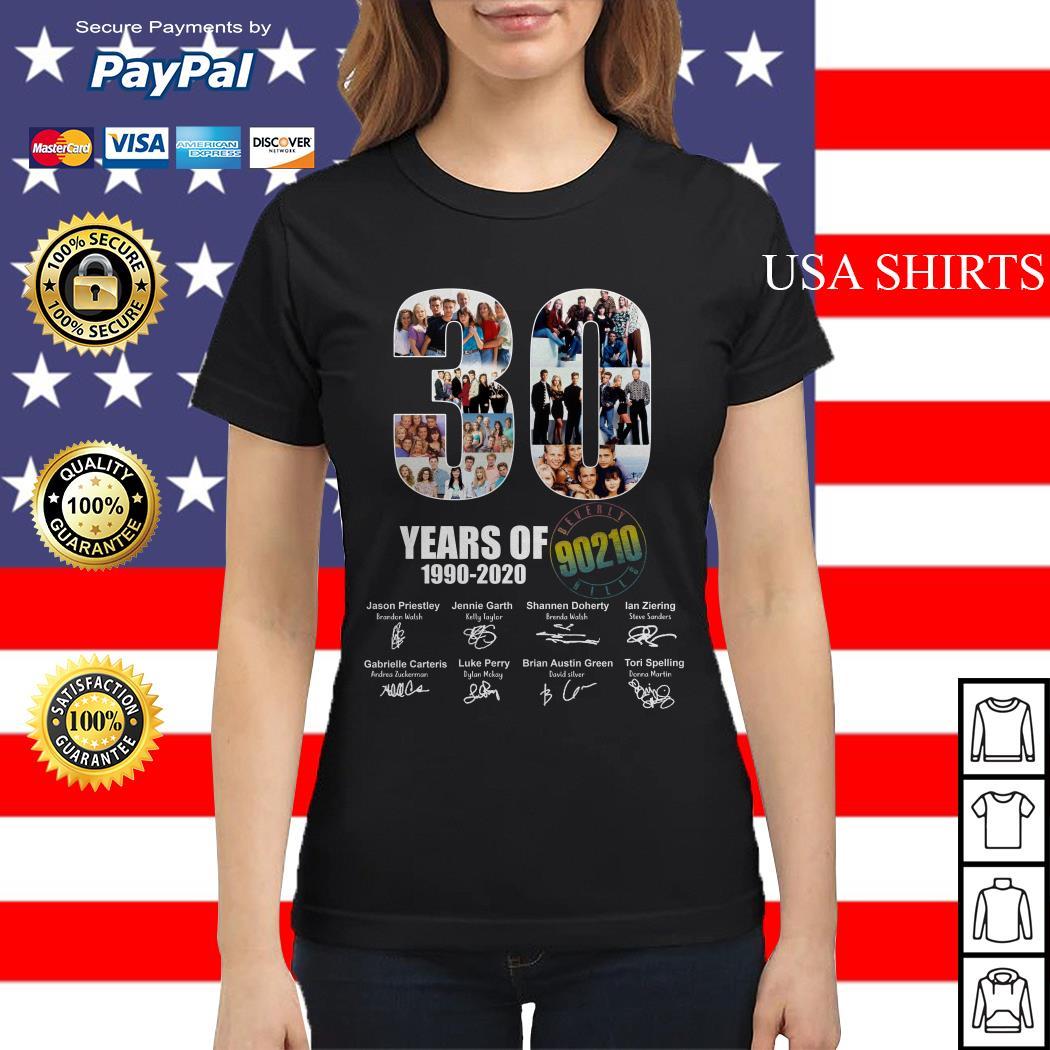 30 Years of 1990 2020 90210 signature Ladies tee