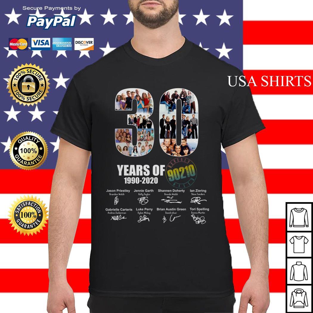 30 Years of 1990 2020 90210 signature shirt